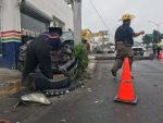 Obrero se Lesiona al Chocar Contra Postes en Matamoros