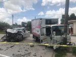 Fuerte Choque Entre Patrulla y Camión Deja 3 Heridos en Matamoros
