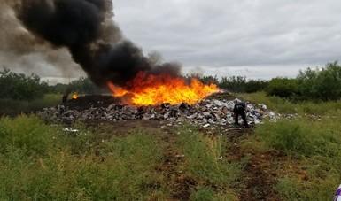 Incineran Más de 11 Toneladas de Narcóticos en Tamaulipas