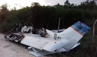 Incineran Avioneta Después de Aterrizar Clandestinamente; La PGR ya Investiga