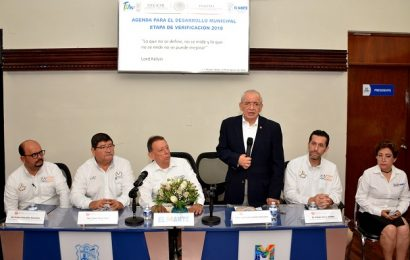 Recibe Gobierno Municipal Verificación de la Agenda Para El Desarrollo Municpal 2018
