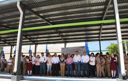 Gobierno Municipal e ITIFE Entregan Techumbre Metalica en la ESMAC