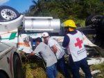 Trailero Muere en Volcadura Sobre la Carretera Aldama-Soto La Marina