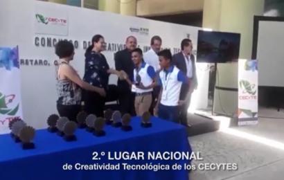 Alumnos ITACE Victoria Ganan 2º Lugar Nacional En Concurso De Creatividad E Innovación Tecnológica