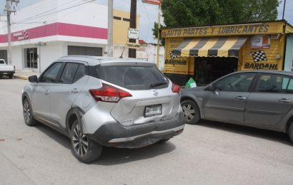 Fuerte Choque por Alcance en el Boulevard Luis Echeverría de El Mante