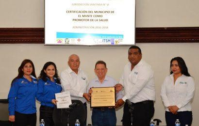Recibe Gobierno Municipal Certificación como Promotor de la Salud