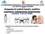Invita DIF Municipal a Campaña de Salud Visual y Auditiva
