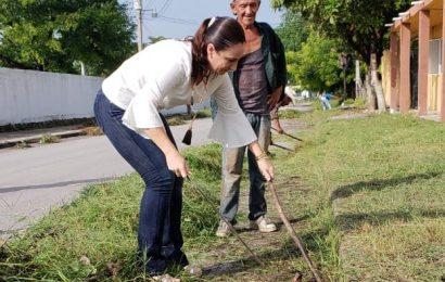 Alcaldesa Noemy González Supervisa Labores de Limpieza