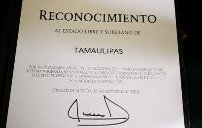 Recibe Salud de Tamaulipas Otro Reconocimiento Nacional