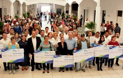 Con Inversión de 1 Millón y Medio de Pesos Entregan Apoyos de Microcreditos en El Mante