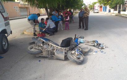 Choque de Motos Deja Dos Heridos Sobre Boulevard Colosio de Cd. Mante