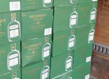 Incauta Gobierno del Estado contrabando de whisky y tabaco