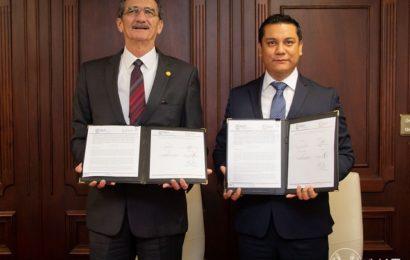 Firman convenio la UAT y Universidad de Seguridad y Justicia
