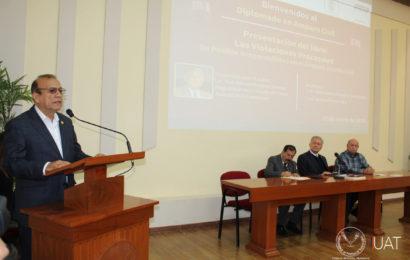 Presentan en la FADyCS UAT libro sobre derecho procesal