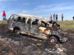 Mueren varios obreros calcinados en volcadura en San Fernando