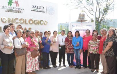 Tocan 98 tamaulipecas «Campana de la Victoria» tras vencer el cáncer