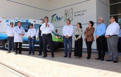 Recibe hospital general de Mante una nueva ambulancia