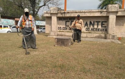 Servicios Públicos embellece acceso sur de El Mante