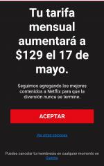Netflix Incrementa 20 pesos a tarifa de cobro mensual