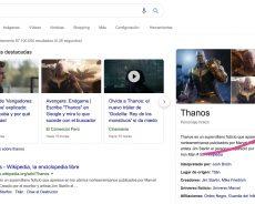 "Chasquido de ""Thanos"" desaparece resultados de Google"