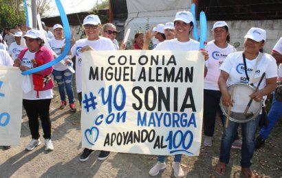 Sonia Mayorga Sigue Sumando a las Mayorías