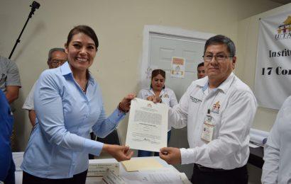 Entregan Constancia de Mayoría a Sonia Mayorga Diputada Electa del XVII Distrito Electoral