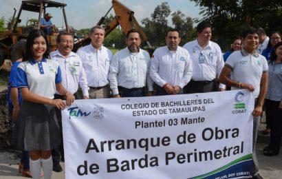 Inicia Construcción de Barda en el COBAT 03 Mante