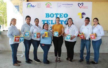 DIF Xicoténcatl Inicia Boteo en Favor del Teletón