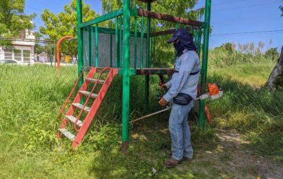 Intensifican Limpieza en parques y panteones de El Mante