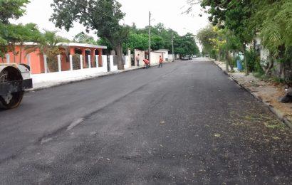 Pavimentan las calles Moises Saenz e Independencia de Xicoténcatl