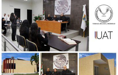 InauguranModerna Sala de Juicios Orales en la UAT Tampico