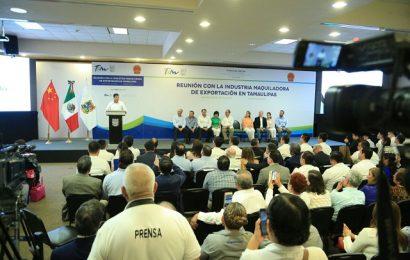 Presenta Gobernador ventajas para invertir en Tamaulipas a empresarios de China