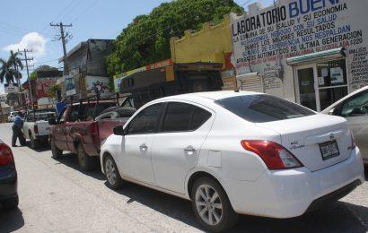 Caos Vial Ante Choque Vial Múltiple en Zona Centro de Mante