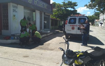 Lesionan en Choque a Joven Motociclista
