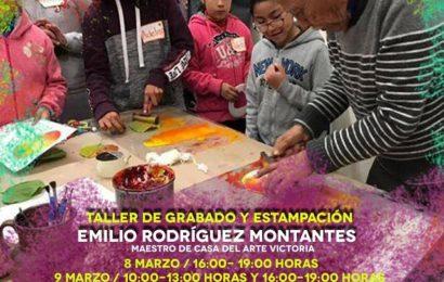 Invita centro cultural al curso de grabado y estampación