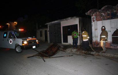 Incendio en Zona Centro Moviliza a Bomberos en Cd. Mante