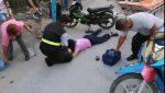 Mujer Lesionada al Chocar Dos Motos en la Colonia Núñez
