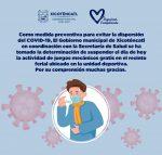 Gobierno de Xicoténcatl Suspende Actos Públicos Masivos