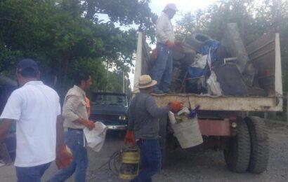 Realizan Campaña de Descacharrización enXicoténcatl