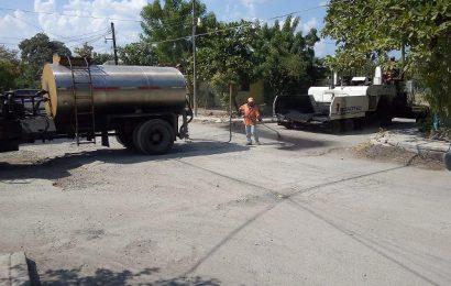 Pavimentan calle a la colonia José de Escandón